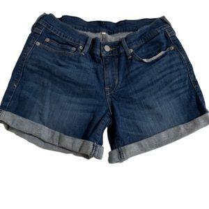 Levi's denim cuffed jean shorts